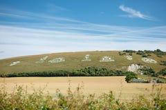 Fovant-Ausweise, Wiltshire, England Lizenzfreie Stockbilder