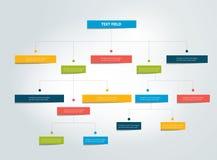 Fowchart Infographics Esquema coloreado de las sombras stock de ilustración