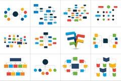 Fowcharts-Entwürfe, Diagramme Mega- Satz Stockfoto
