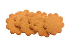 Fower shaped sugar cookies Stock Images