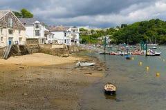 Fowey Cornwall. Riverside at Fowey Cornwall England UK Royalty Free Stock Image