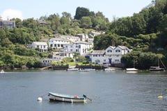 Fowey Cornwall Arkivfoton