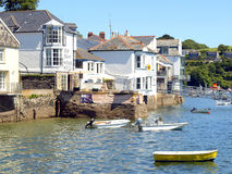 Fowey, Cornwall. The old quay on the river Fowey at Fowey, South Cornwall, England, UK Royalty Free Stock Images