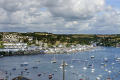 Fowey and cove from Polruan , Cornwall Stock Photos