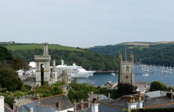 Fowey estuary, Cornwall, UK Stock Photos