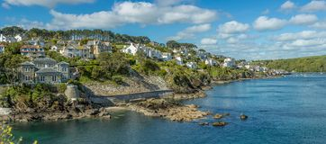 Fowey town and estuary, Late Afternoon royalty free stock images