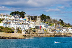 Fowey from Polruan Cornwall Royalty Free Stock Photos
