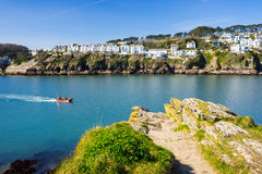 Fowey from Polruan Cornwall Stock Photography