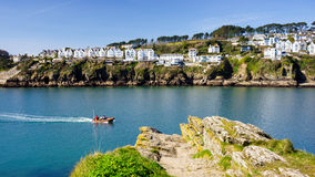 Fowey from Polruan Cornwall Royalty Free Stock Image
