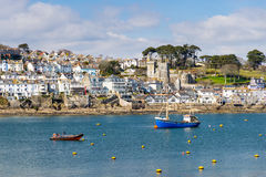 Fowey from Polruan Cornwall Stock Photo
