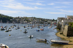 Fowey Polruan cove harbour , Cornwall Stock Photography