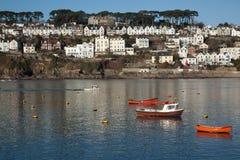 Fowey sul litorale di Cornrwall dell'Inghilterra Fotografie Stock Libere da Diritti