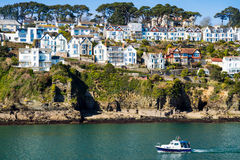 Fowey von Polruan Cornwall Stockfoto
