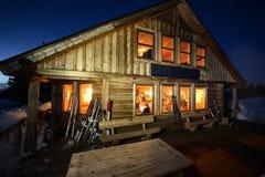 Fowler Hilliard Hut. At night Royalty Free Stock Photo
