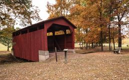 Fowlersville-überdachte Brücke Pennsylvania Lizenzfreie Stockbilder