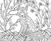 Fox在幻想森林里 免版税图库摄影