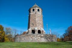 Fox小山塔公开纪念碑在弗农CT美国 免版税库存照片