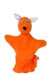 Fox布袋木偶 库存照片