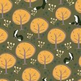 Fox森林无缝的样式设计 皇族释放例证