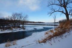 Fox河在冬天 免版税库存照片