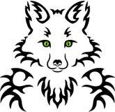 Fox纹身花刺 免版税库存图片
