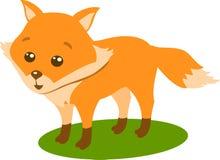 Fox,传染媒介例证吨白色背景 免版税库存照片