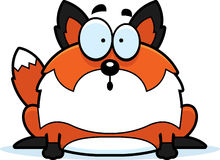 Fox étonné de bande dessinée illustration de vecteur