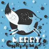 Fox пожелал счастливого рождества Стоковые Изображения