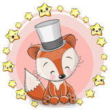 Fox поздравительной открытки с звездами иллюстрация вектора