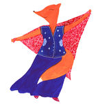 Fox танцев Стоковое Изображение
