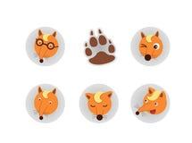 Fox头传染媒介 免版税库存图片