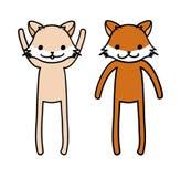 Fox ilustração stock