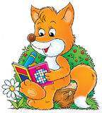 Fox. Isolated clip-art and children's illustration for yours design, postcard, album, cover, scrapbook, etc Stock Photo