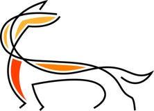 Fox abstrato ilustração do vetor