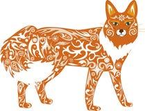 Fox, animale, uno, un'illustrazione, un predatore, Fotografie Stock Libere da Diritti
