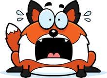 Fox asustado de la historieta Fotografía de archivo