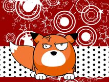 Fox baby ball expression cartoon background Stock Photo