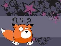 Fox baby ball expression cartoon background2 Stock Photos