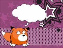 Fox baby ball expression cartoon background3 Stock Images
