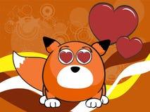 Fox baby ball expression cartoon background4 Stock Photo