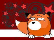 Fox baby ball expression cartoon background5 Stock Image