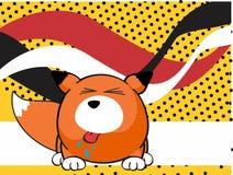 Fox baby ball expression cartoon background8 Royalty Free Stock Photo