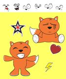Fox baby cartoon expression set8 Stock Photography