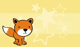 Fox baby cute cartoon background Royalty Free Stock Images