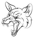 Fox bawi się charakteru Zdjęcia Stock