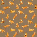 Fox Bezszwowy wzór ilustracji