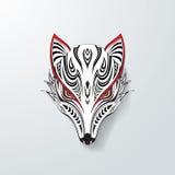 Fox blanc de tribal illustration de vecteur