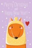 Fox in cappuccio tricottato Fotografia Stock