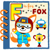 Fox the car racer Royalty Free Stock Photography