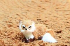 A fox at the carpet. A fox at the carpet, as background Stock Photography